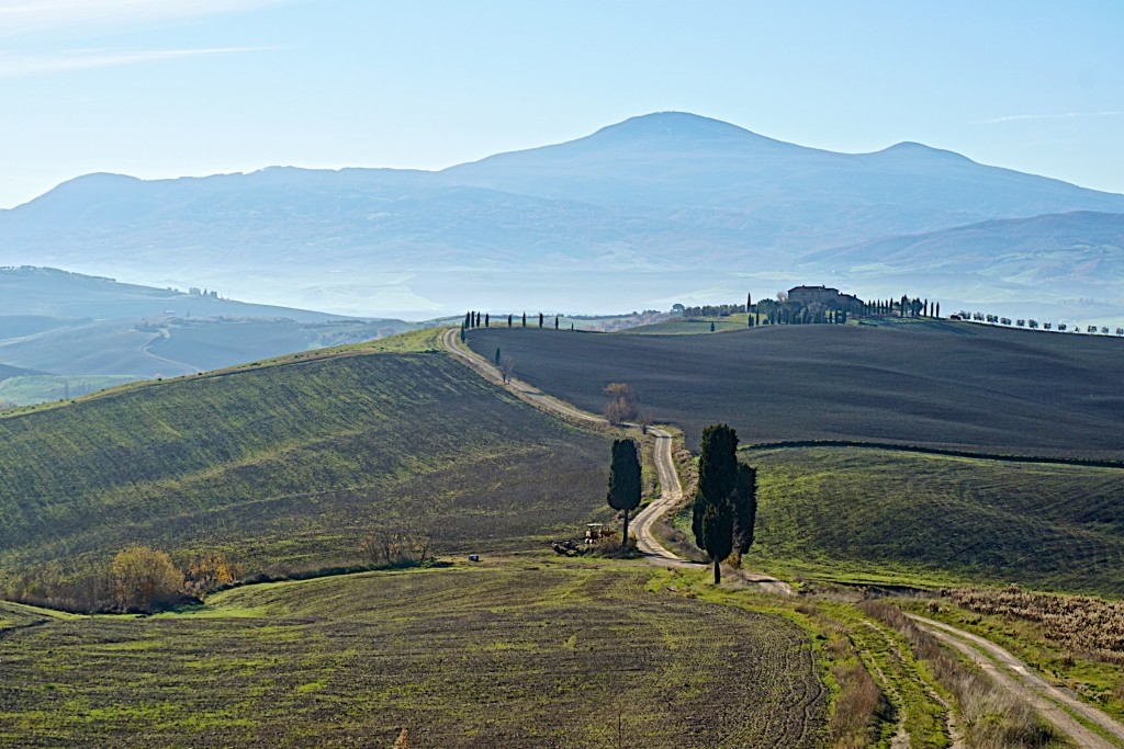 Hiking with Christina around Pienza