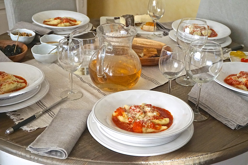Culurgiones in tomato sauce