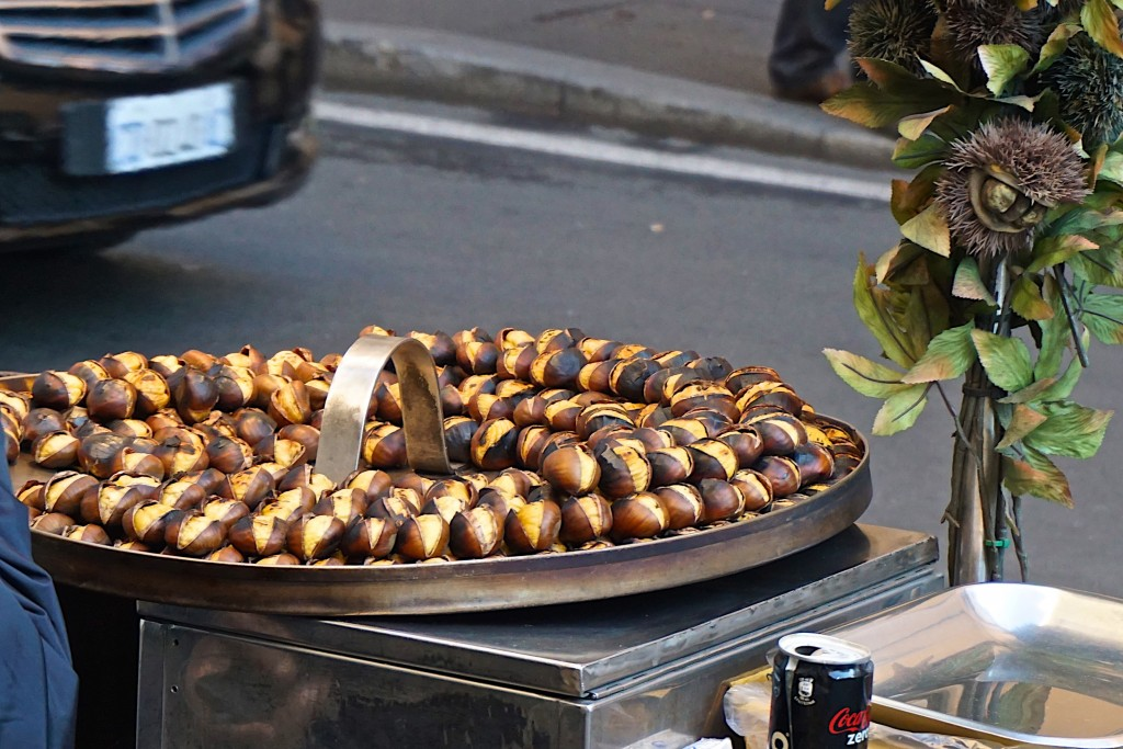Roasted chestnuts - another kind of street food