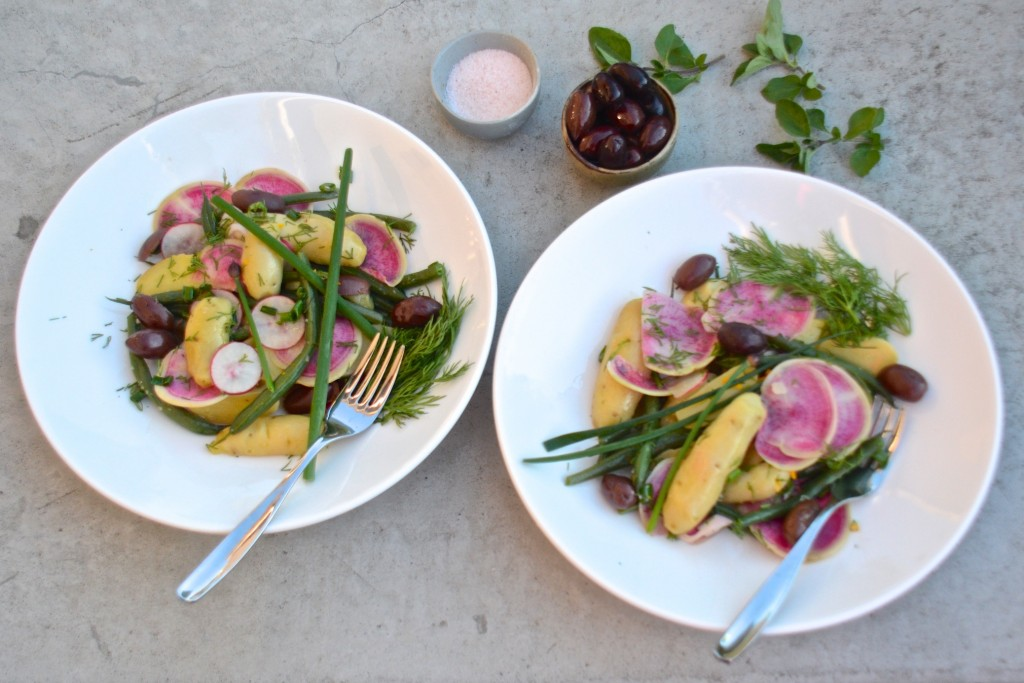 Fingerling potto and radish salad