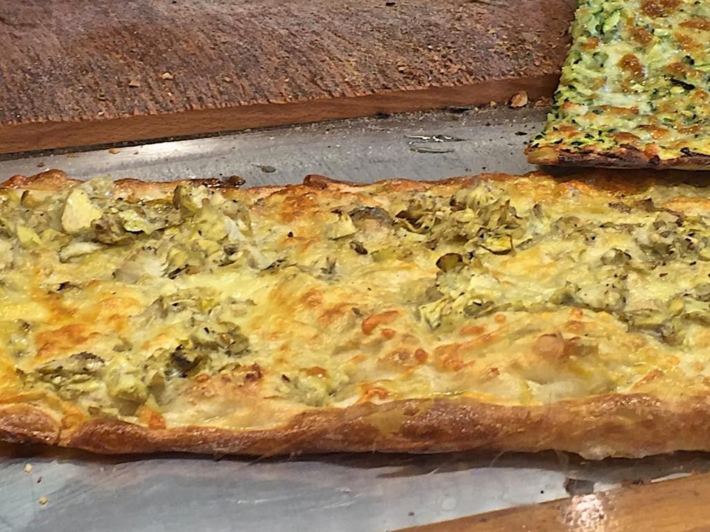 Artichoke pizza al taglio
