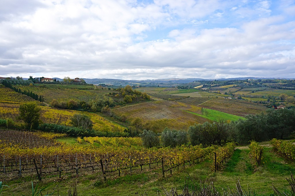 Views of Elsa Valley from San Gimignano