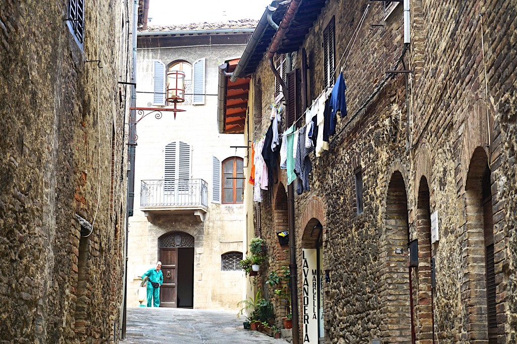 Medieval side street in San Gimignano