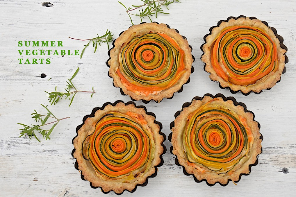 Sumer vegetable spiral tarts