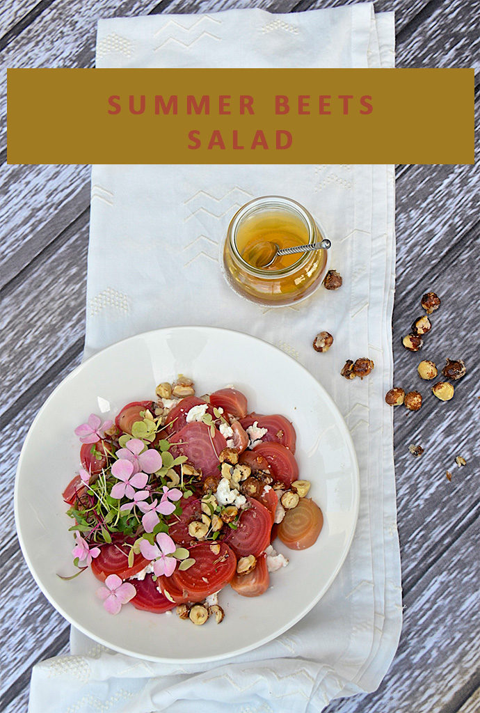 Summer beets salad