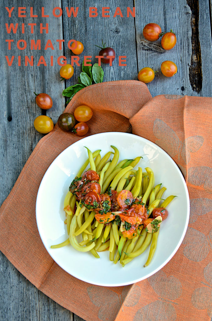 Yellow beans with tomato vinaigrette