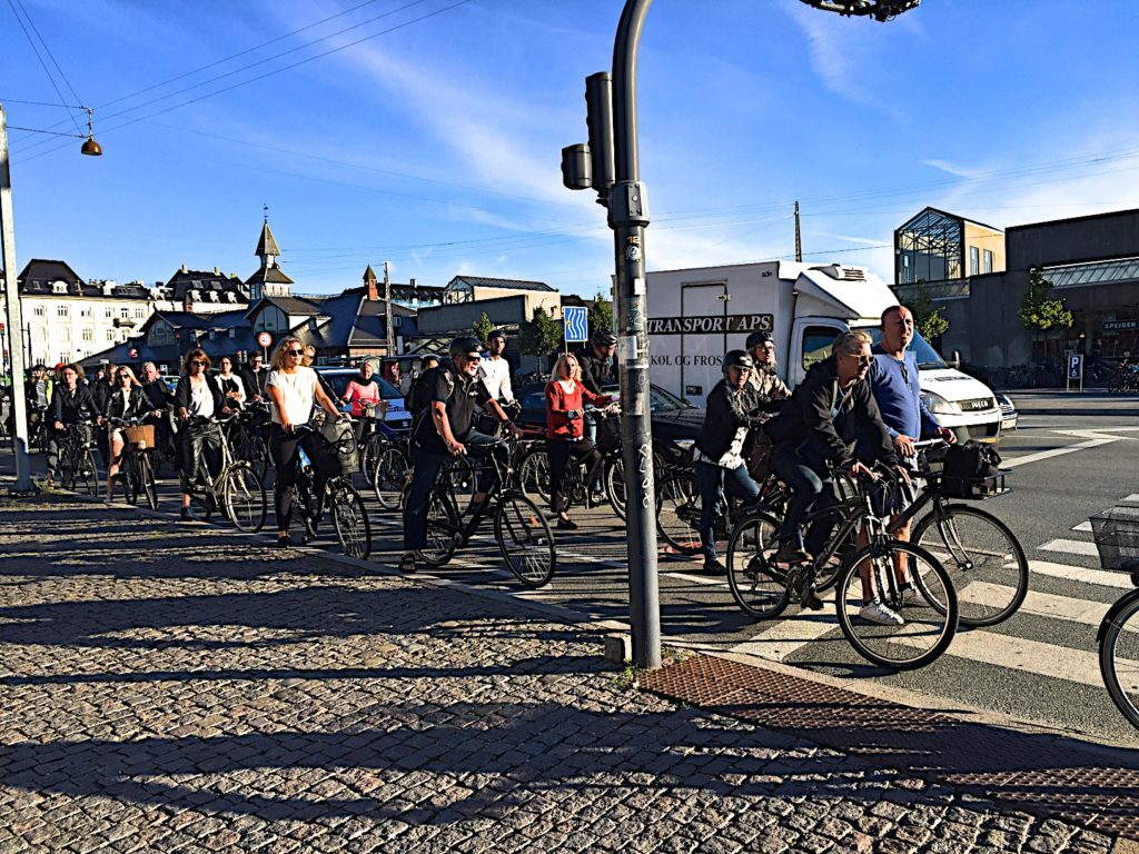 Bicycles as transportation in Copenhagen