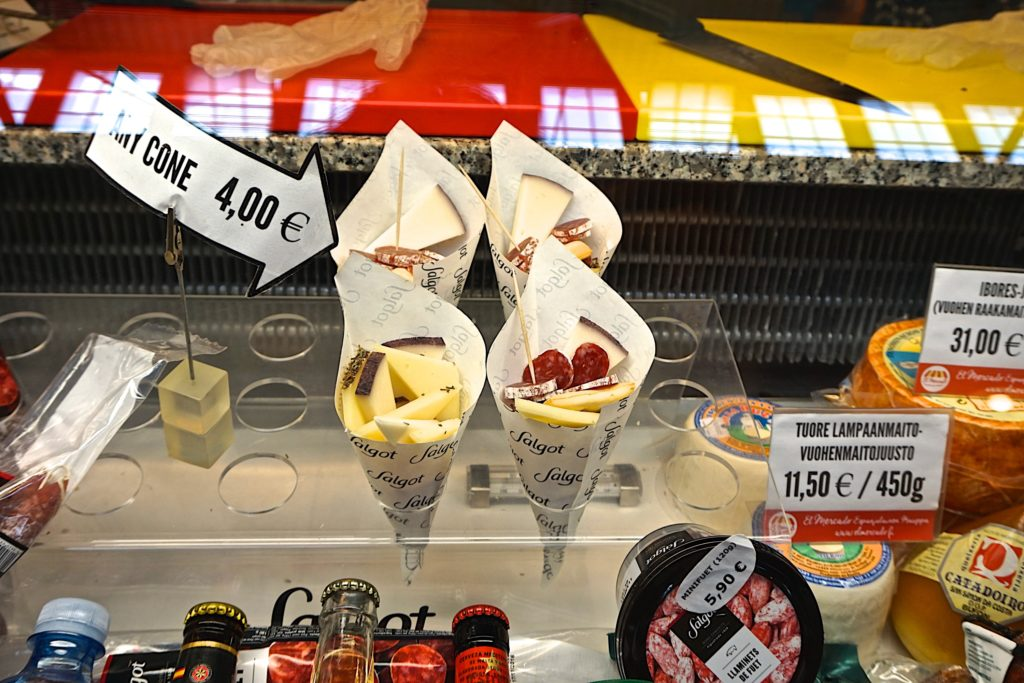 Snack cones at the market