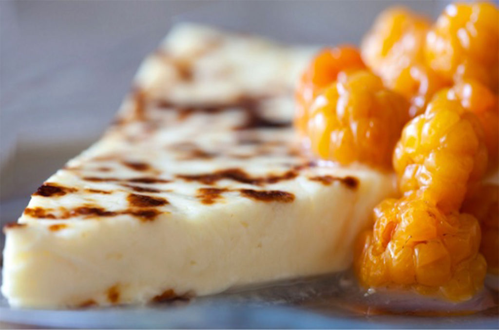 Cheesebread and cloudberries form Lapland