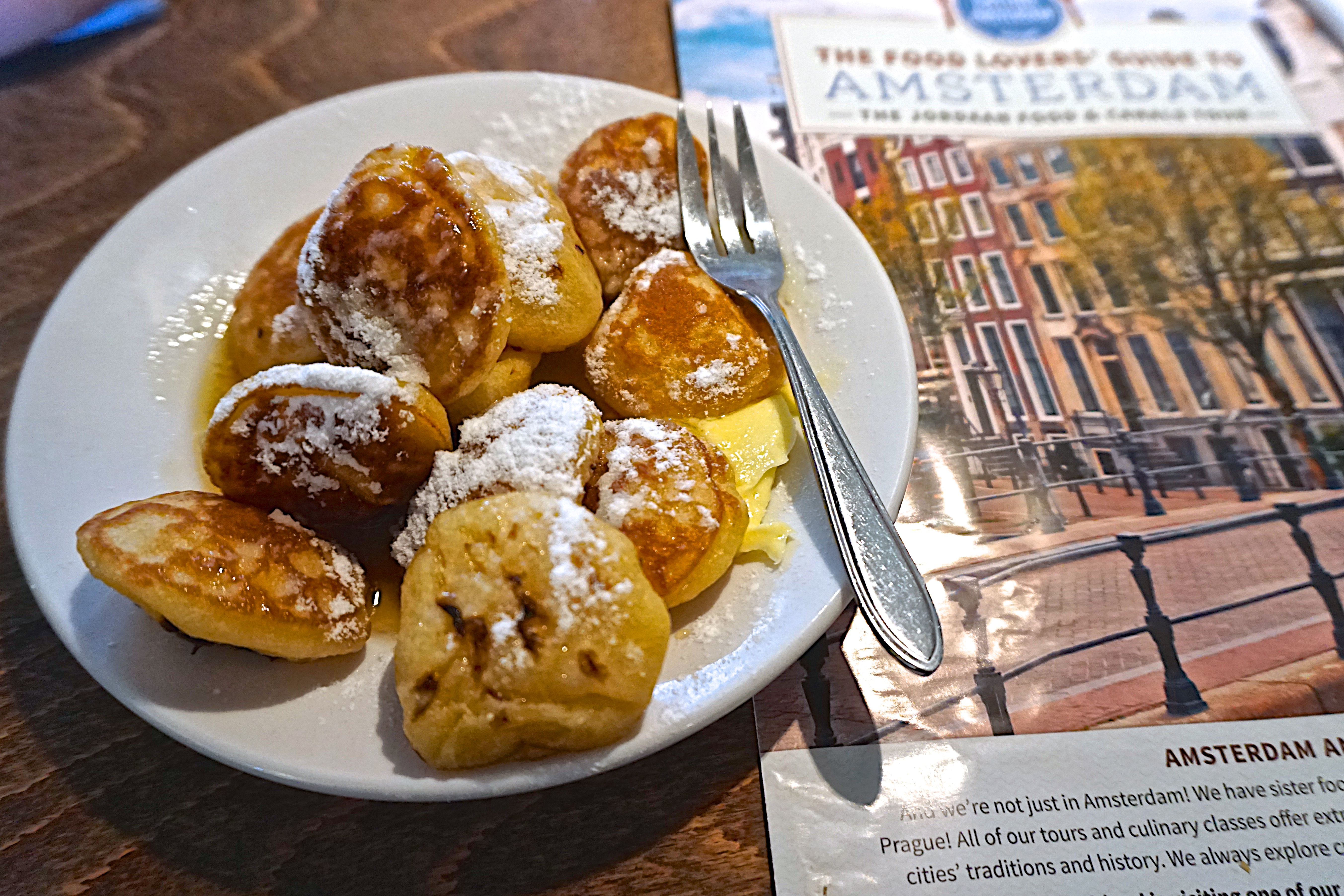 "Poffertjes at Cafe de Prins, another ""brown cafe"""