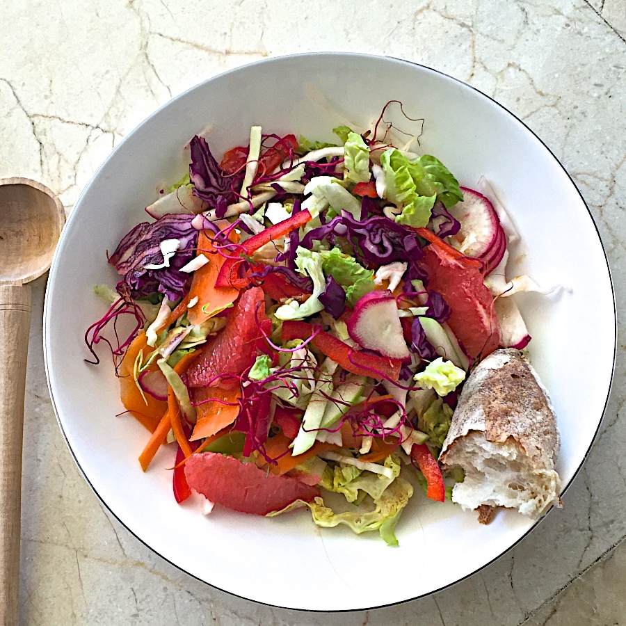 Shredded salad with citrus vinaigrette