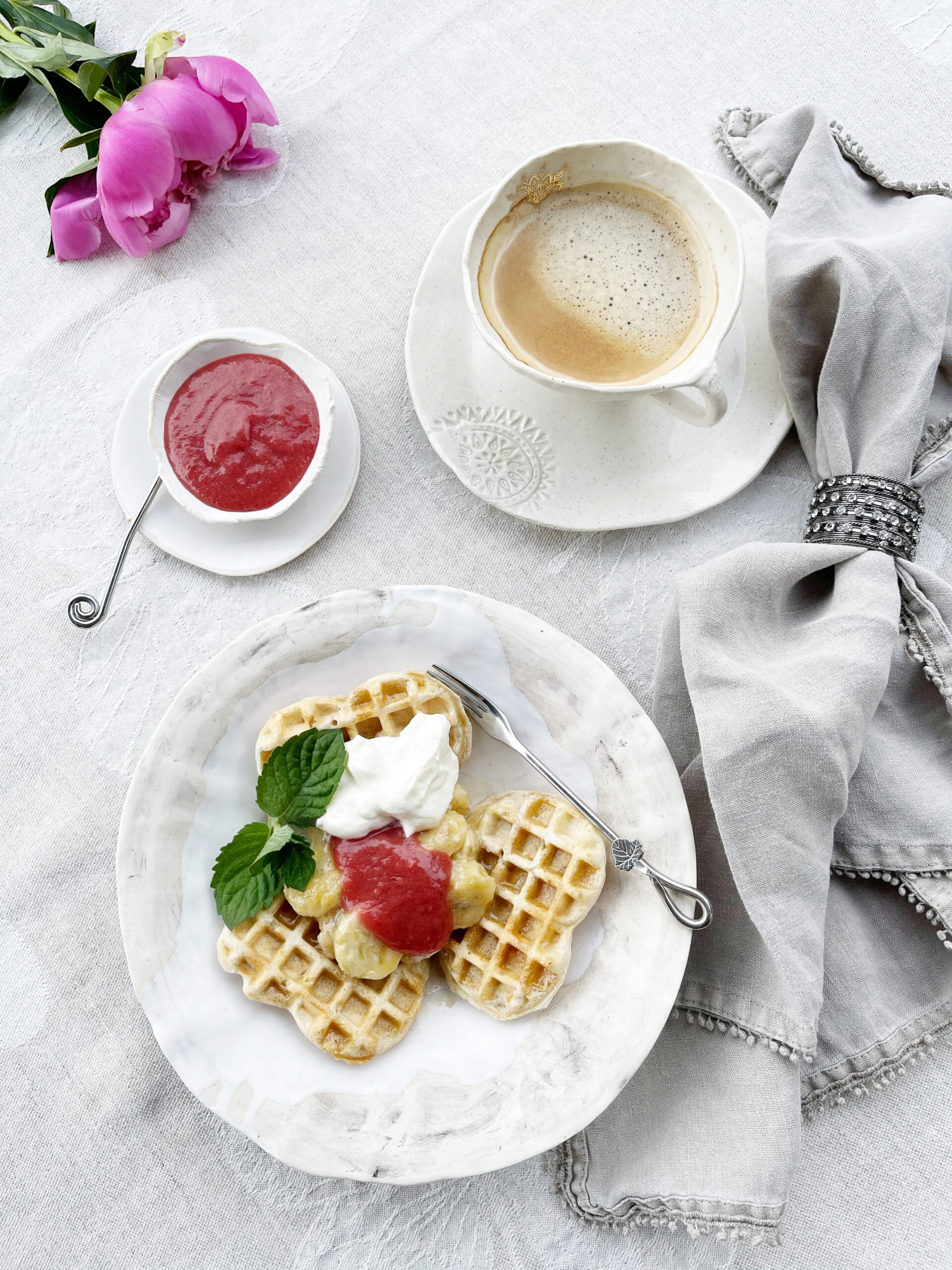 Sourdough Discard Waffles with Oats