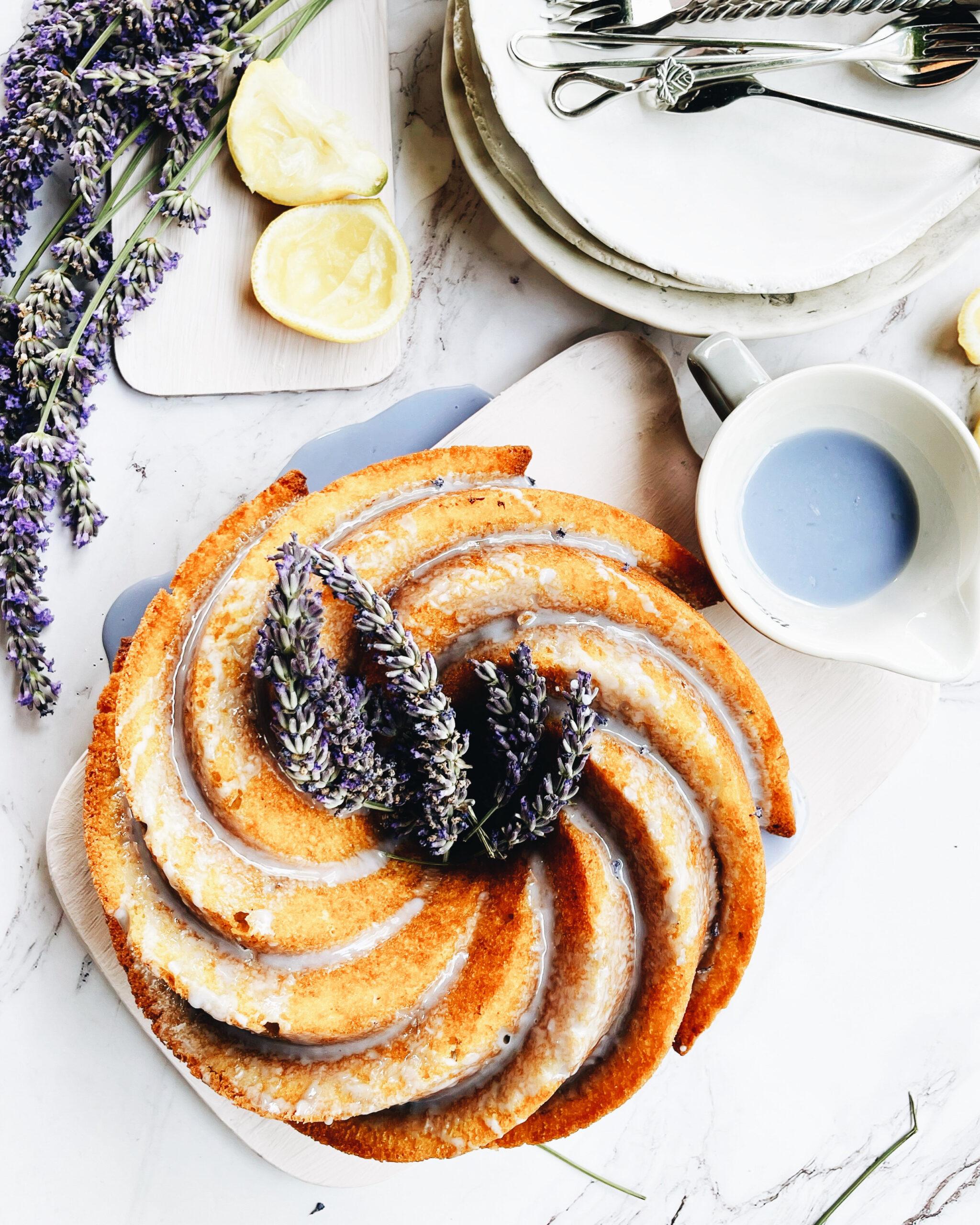 Lavender-lemon bundt cake